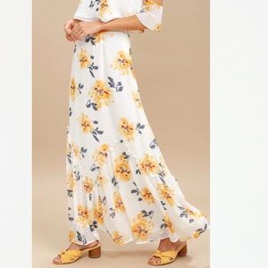 Lulu's Floral Waltz of the Flowers Maxi Skirt